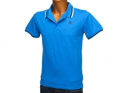 Kappa May-Polo da uomo, colore blue daphnee, taglia S