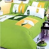 Le Vele Evergreen Green - Duvet Cover Bed in Bag - Full / Queen Bedding Gift ...