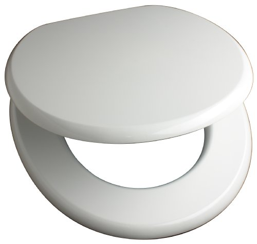 Euroshowers MDF antibacterial toilet seat - White
