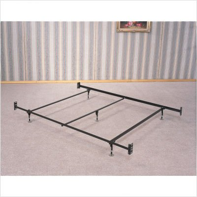 Full Queen  Rails on Coaster Bed Frame  Rail For Headboard And Footboard With 5 Legs And