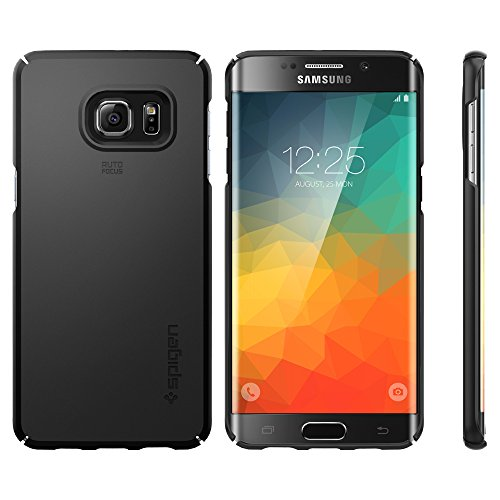 Spigen-Thin-Fit-Galaxy-S6-Edge-Plus-Case-with-SF-Coated-Non-Slip-Matte-Surface-for-Excellent-Grip-for-Galaxy-S6-Edge-Plus-2015-Black