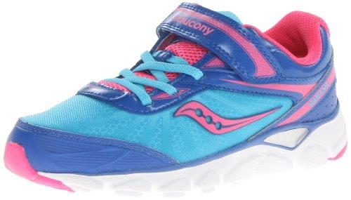Saucony Girls Varana A/C Running Shoe (Little Kid),Blue/Pink,12 M Us Little Kid