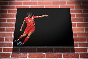 Steven Gerrard Liverpool FC Football Gallery Framed Canvas Art Picture Print by I Art Box