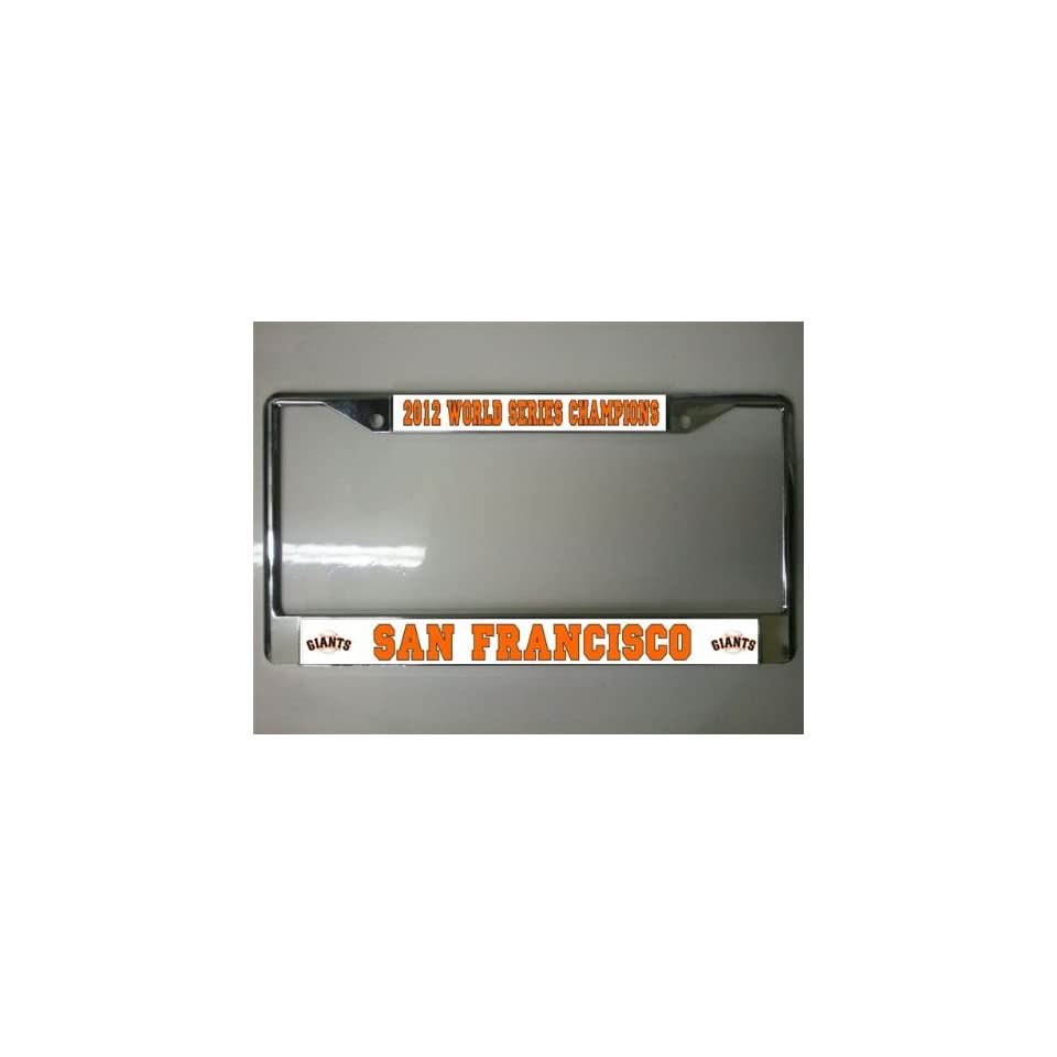 San Francisco Giants 2012 World Series License Plate Frame