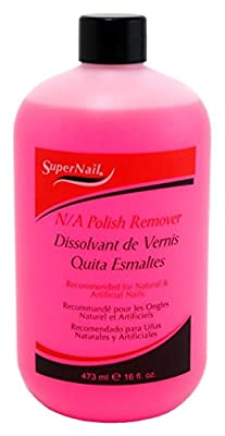 Super Nail Acetone Polish Remover, 16 Ounce