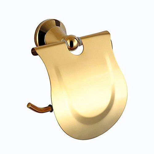 ownace-Gold Messing Wand montiert Bademantel Haken Einzel Handtuch Bars Doppel Handtuch Regal Tissue Rollenhalter WC-Bürstenhalter Glas Regal Zahnbürste Halter, Paper Holder