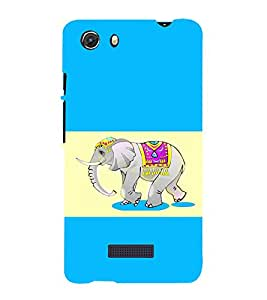 printtech Ethnic Elephant Pattern Back Case Cover for Micromax Q372 Unite 3