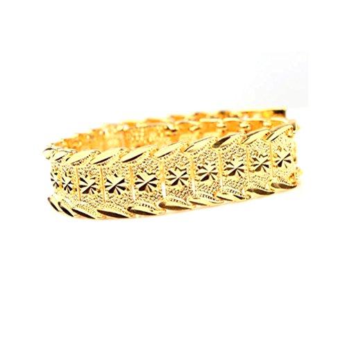 Pixnor da polso catena 24K Gold Plated bracciali nuovo braccialetto di disegno donna nobile uomo