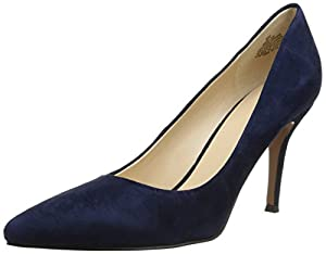 Nine West Women's Flax Suede Dress Pump,Navy,6.5 M US