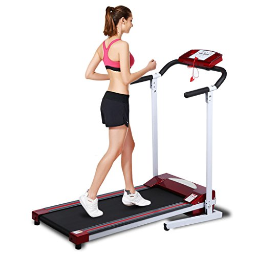 Gracelvoe Portable Folding Electric Motorized Commercial-Grade Home Treadmill (red)