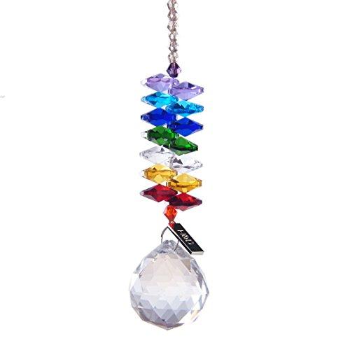 Crystal Prism Rainbow Chakra Suncatcher