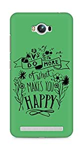 AMEZ do more of what makes you happy Back Cover For Asus Zenfone Max ZC550KL
