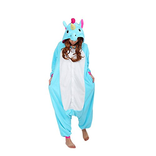 89690bdc07 Disfraz Unisexo Adulto Animal unicornio gallo azul Pijama