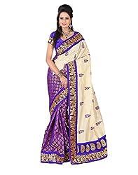 Devi Silk Mills Women's Cotton Saree (DES1423_Z2_Beige)