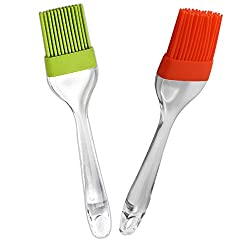 Silicone Basting & Pastry Brush Set of 2 (Assorted Color) / Baking Lover gift on Diwali / Birthday / Anniversary.