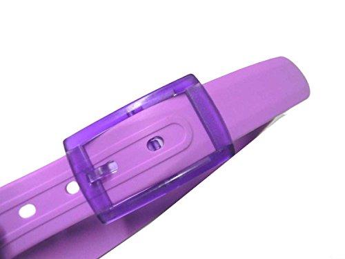 Avantgarde - CINTURA GOMMA ROSA PINK con fibia in plastica anallergica, colore: lilla rosato