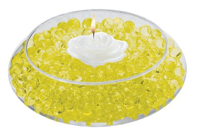 Water Pearls YELLOW Centerpiece Wedding Tower Vase Filler makes 6 gallons (8oz pack)