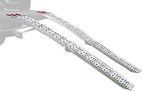 Extreme Max 5500.4075 7.5' Aluminum Folding Mesh Ramp Set 1500 Lbs