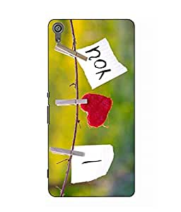 Make My Print Love Printed Hard Back Cover For Sony Xperia XA Dual