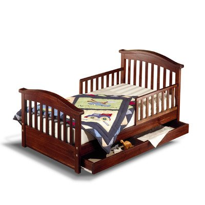 Joel Pine Toddler Bed Finish: Cherry Pine