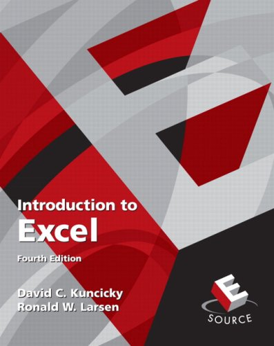 Introduction to Excel (4th Edition)