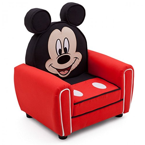 Disney-Mickey-Mouse-LUXUS-Kindersessel-Fernsehsessel-Sessel-Sofa-rot-Stuhl-Couch-NEU