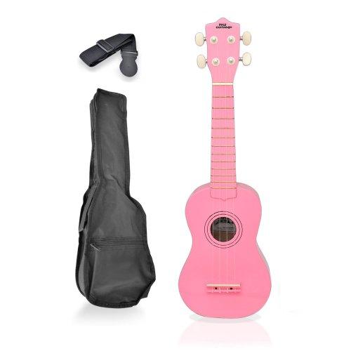 Pyle-Pro Pgakt10Pk Soprano Ukulele Mini Guitar Starter Package All Ages - Pink