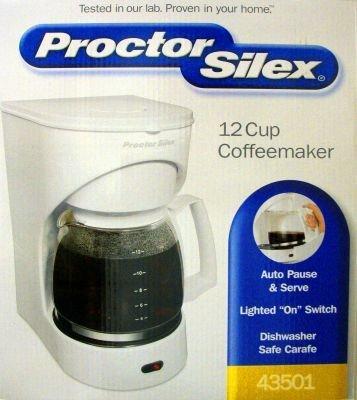 Proctor Silex Coffee Maker Instruction Manual : Proctor Silex Coffeemaker 12 Cup White 900 W Coffee Outlet Direct