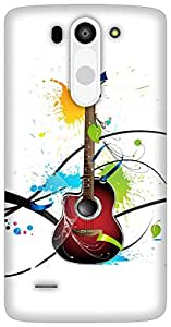 The Racoon Grip Colours Of Guitar hard plastic printed back case for LG G3 Beat