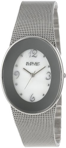 August Steiner Women's Stainless Steel Oval Watch