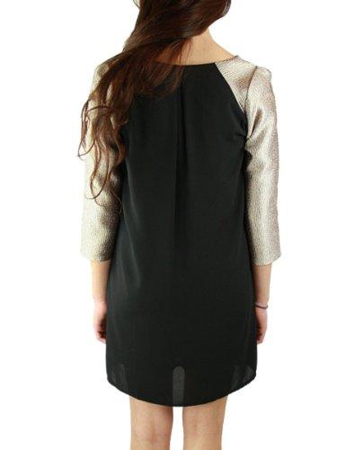 MoonTree Ladies Gold Accent Little Black Dress (Medium)