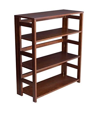 Regency High Folding Bookcase, Mocha Walnut