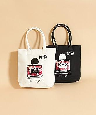 【クリックでお店のこの商品のページへ】(ハリウッドメイド) HOLLYWOOD MADE BIG DRESS PERFUME TOTE BAG キャンバストートバッグ Freeサイズ ホワイト(001): シューズ&バッグ:通販