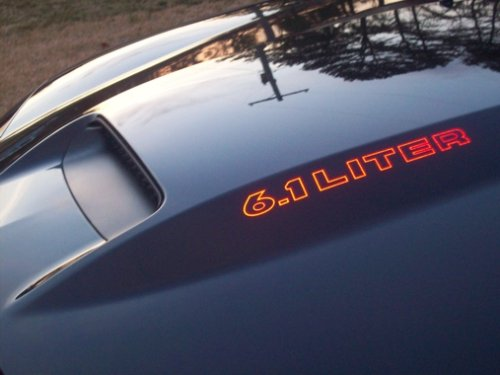 Dodge Charger 6.1 Liter Srt Cowl Hood Decals- Reflective Red