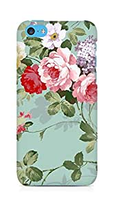 Amez designer printed 3d premium high quality back case cover for Apple iPhone 5C (flowers 2)