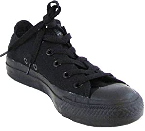 Converse Chuck Taylor Black Monochrome Unisex Shoe (10.5, Low Top)