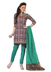 Araham Multicolor Printed 100% Cotton Unstitched Salwar Suit Dress Material