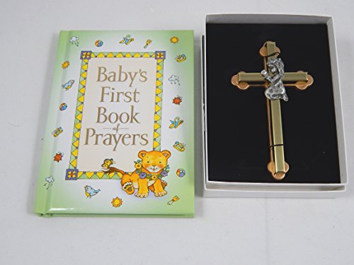 "Baby's First Book of Prayers and 4"" Praying Girl Wall Cross"