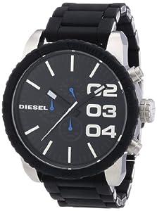 Diesel Herren-Armbanduhr XL Franchise-51 Chronograph Quarz Silikon DZ4255