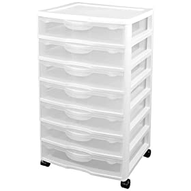 Sterilite 7-Drawer Craft Cart - White