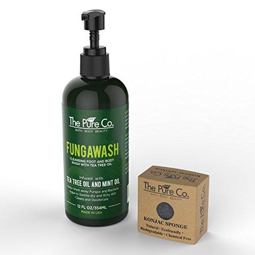 the-pure-fungawash-antifungal-tea-tree-oil-body-wash-and-konjac-sponge