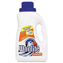 WOOLITE Complete Laundry Detergent, 50 oz Bottle - six bottles.