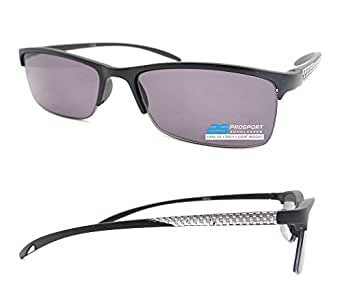 Amazon.com: Semi rimless Square Reading Glasses Tinted ...