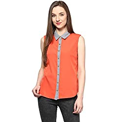 Annabelle by pantaloons Women's Casual Shirt (205000004737173_Red_S)