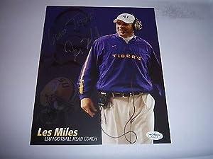 Autographed Les Miles Photograph - geaux Jsa hologram 8x10 Glossy - Autographed... by Sports+Memorabilia