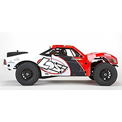 Team Losi Baja Rey: 1/10-Scale AVC RTR 4WD Trophy Truck(Red)