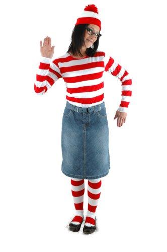 elope Where's Waldo Adult Large/X-Large Wenda Costume Kit