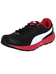 Puma Boys Atom II Jr DP Black, Steel Grey and High Risk Red Sneakers - 1 UK/India (17 EU)