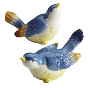 Paula Deen Signature Dinnerware Spring Medley Collection 2-Piece Bird Salt and Pepper Shakers Set
