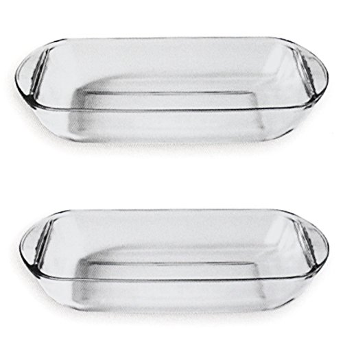 Anchor Hocking Oven Basics 1 Quart Mini Glass Bake Dish, Set of 2 (1quart Baking Dish compare prices)